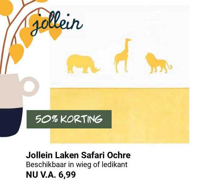 Van Asten Jollein Laken Safari Ochre 50% Korting