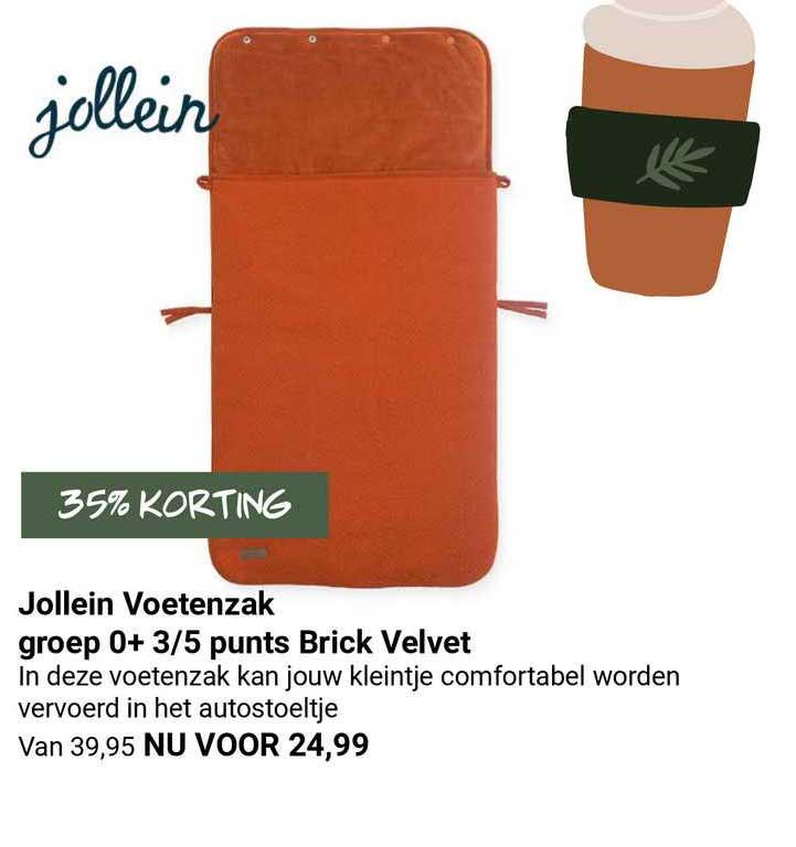 Van Asten Jollein Voetenzak Groep 0+ 3-5 Punts Brick Velvet 35% Korting