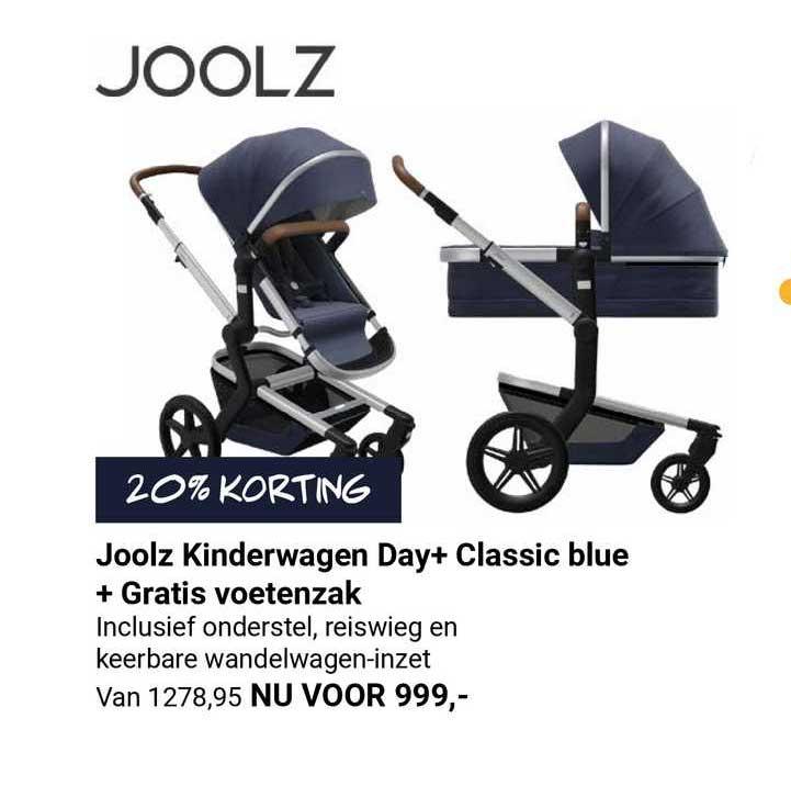Van Asten Joolz Kinderwagen Day+ Classic Blue + Gratis Voetenzak 20% Korting