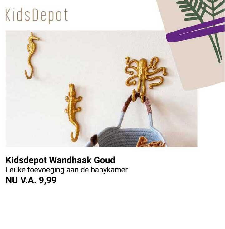 Van Asten Kidsdepot Wandhaak Goud