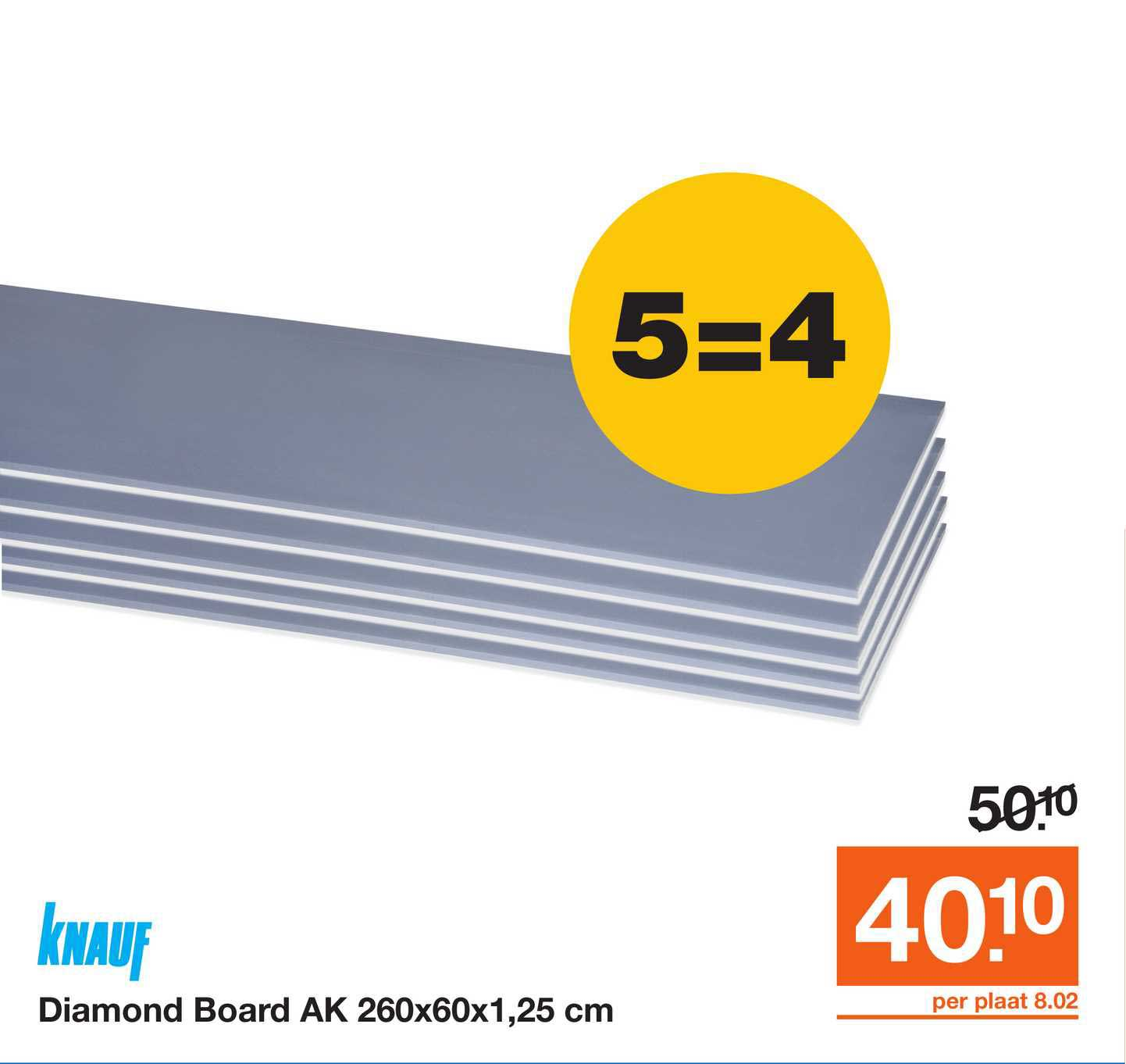 Bouwmaat Knauf Diamond Board AK 260x60x1,25 Cm