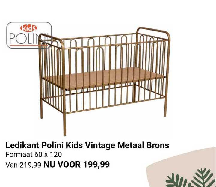Van Asten Ledikant Polini Kids Vintage Metaal Brons