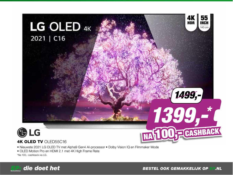 EP LG 4K OLED TV OLED55C16