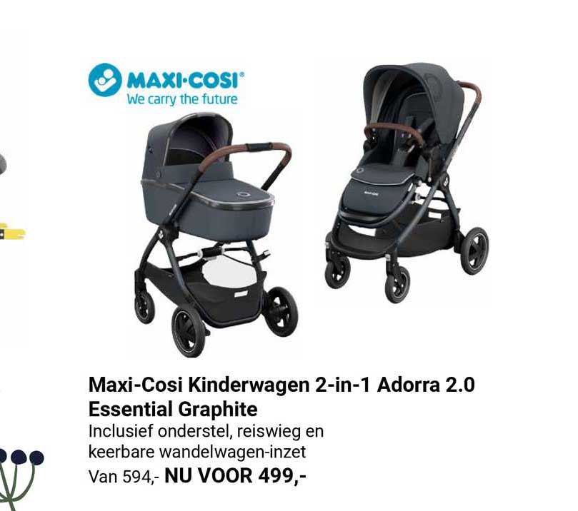 Van Asten Maxi-Cosi Kinderwagen 2-in-1 Adorra 2.0 Essential Graphite