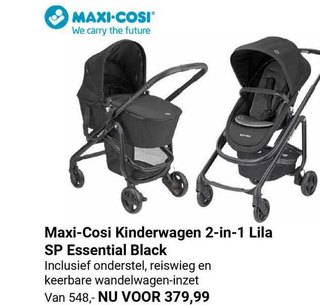 Van Asten Maxi-Cosi Kinderwagen 2-in-1 Lila SP Essential Black