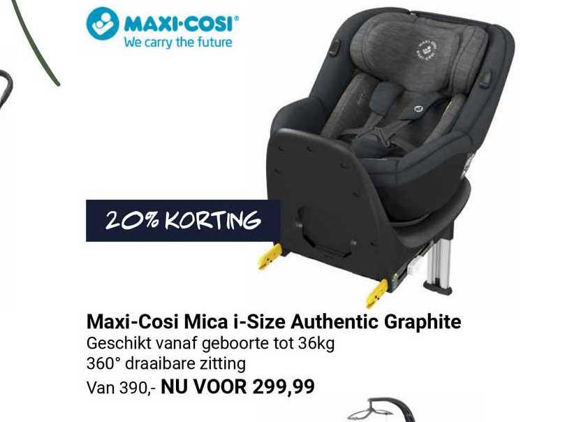 Van Asten Maxi-Cosi Mica I-Size Authentic Graphite Autostoel 20% Korting