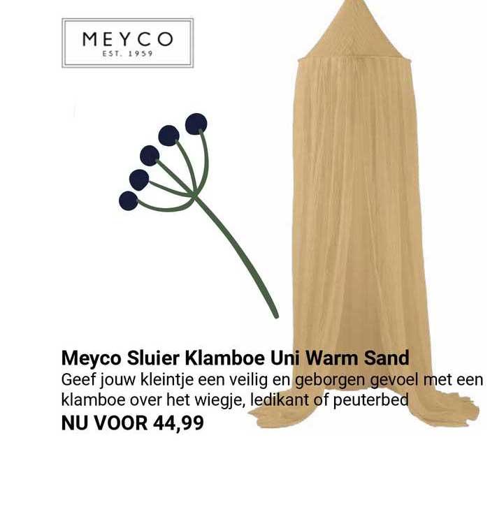 Van Asten Meyco Sluier Klamboe Uni Warm Sand