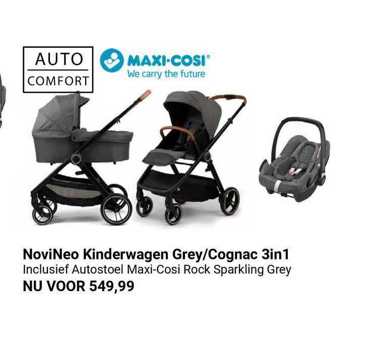 Van Asten NoviNeo Kinderwagen Grey-Cognac 3in1