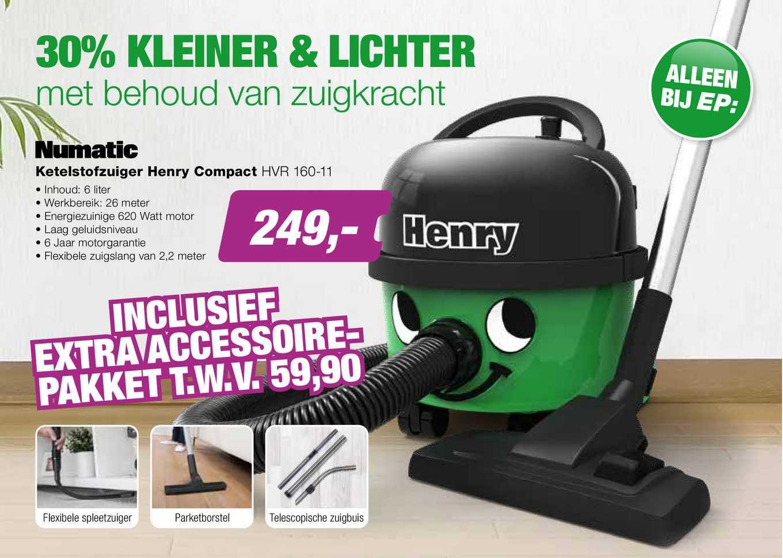 EP Numatic Ketelstofzuiger Henry Compact HVR 160-11