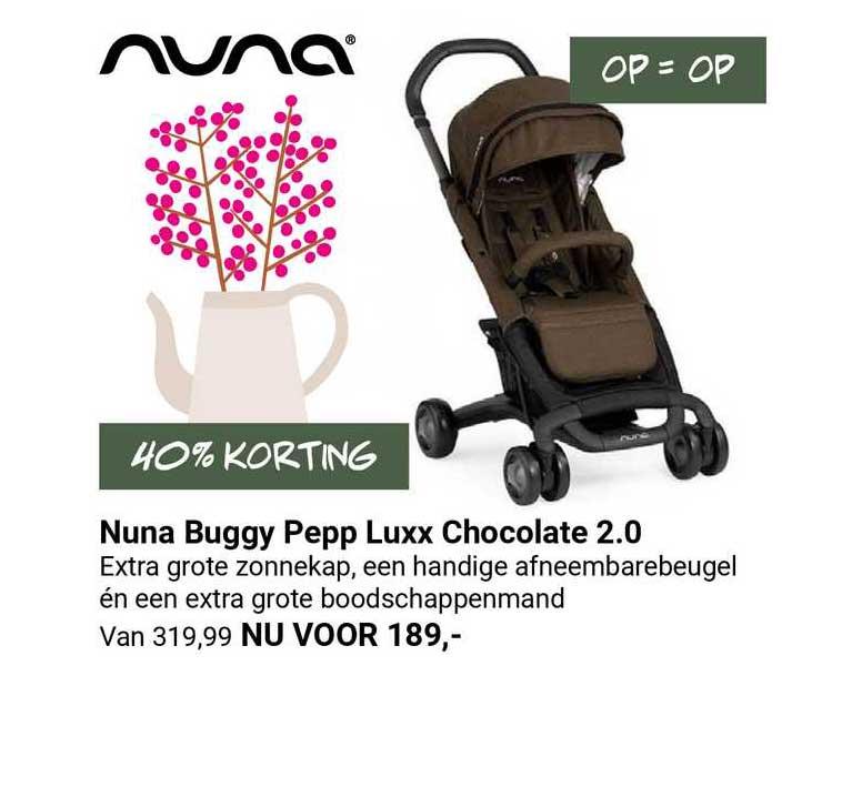 Van Asten Nuna Buggy Pepp Luxx Chocolate 2.0 40% Korting