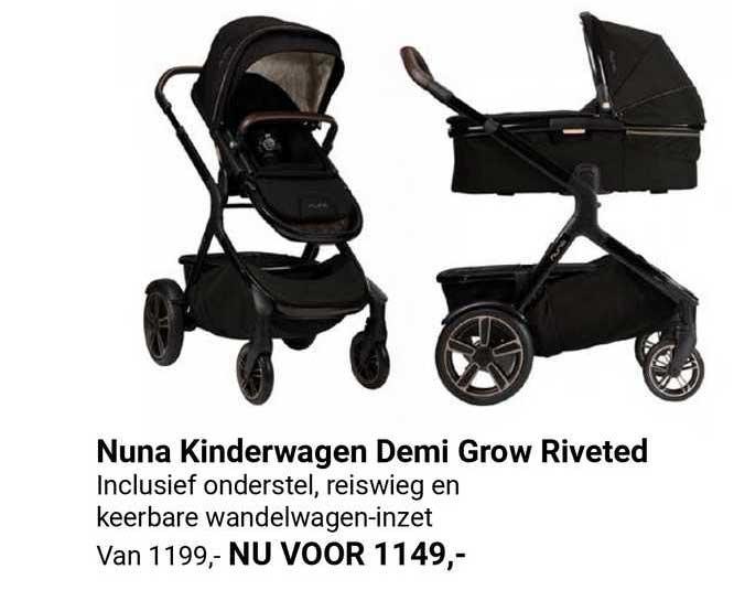 Van Asten Nuna Kinderwagen Demi Grow Riveted