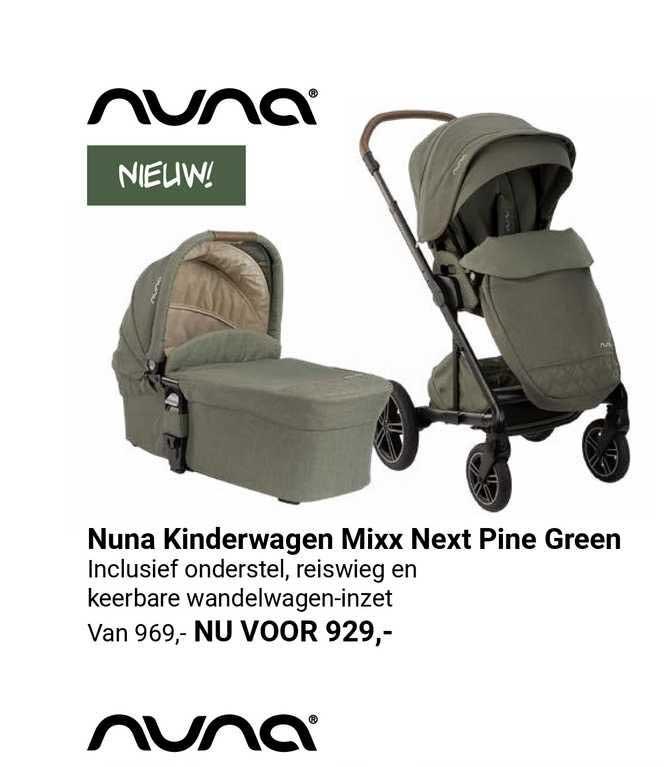Van Asten Nuna Kinderwagen Mixx Next Pine Green