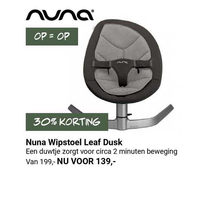 Van Asten Nuna Wipstoel Leaf Dusk 30% Korting