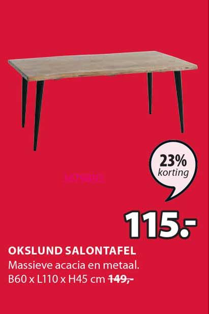 Jysk Okslund Salontafel 23% Korting