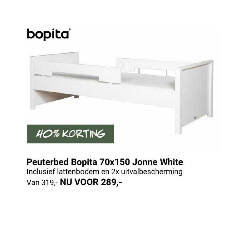 Van Asten Peuterbed Bopita 70x150 Jonne White 40% Korting