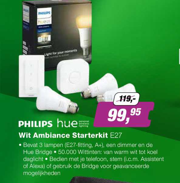 EP Philips Hue Wit Ambiance Starterkit E27