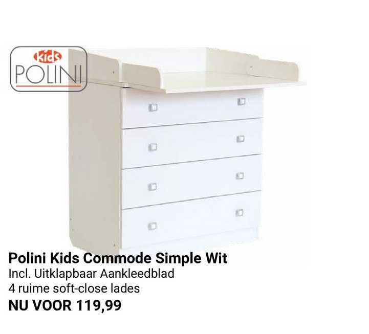 Van Asten Polini Kids Commode Simple Wit