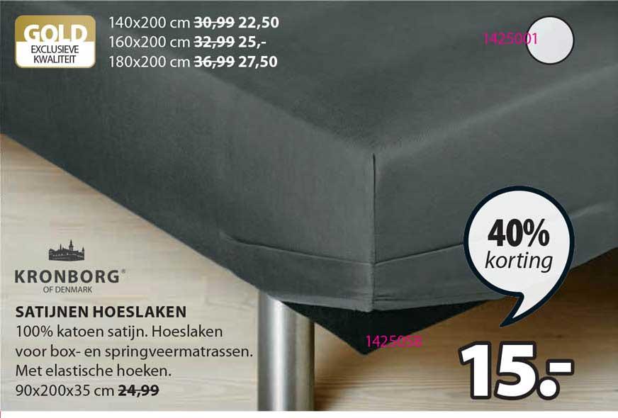 Jysk Satijnen Hoeslaken 40% Korting