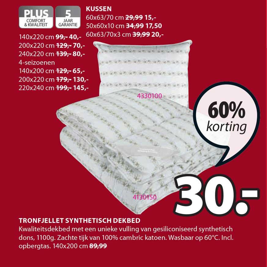 Jysk Tronfjellet Synthetisch Dekbed 60% Korting