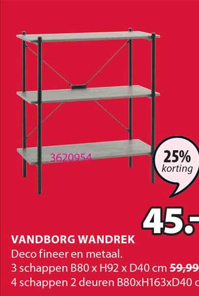 Jysk Vandborg Wandrek 25% Korting