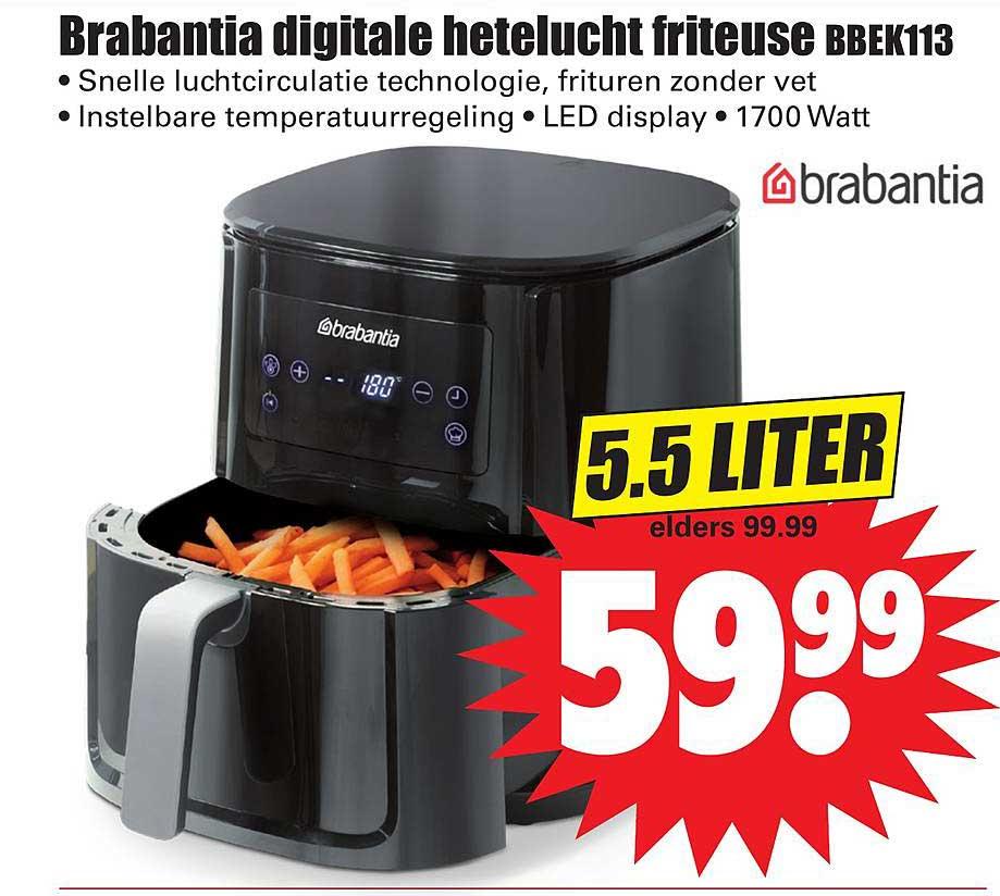 Dirk Brabantia Digitale Hetelucht Friteuse BBEK113