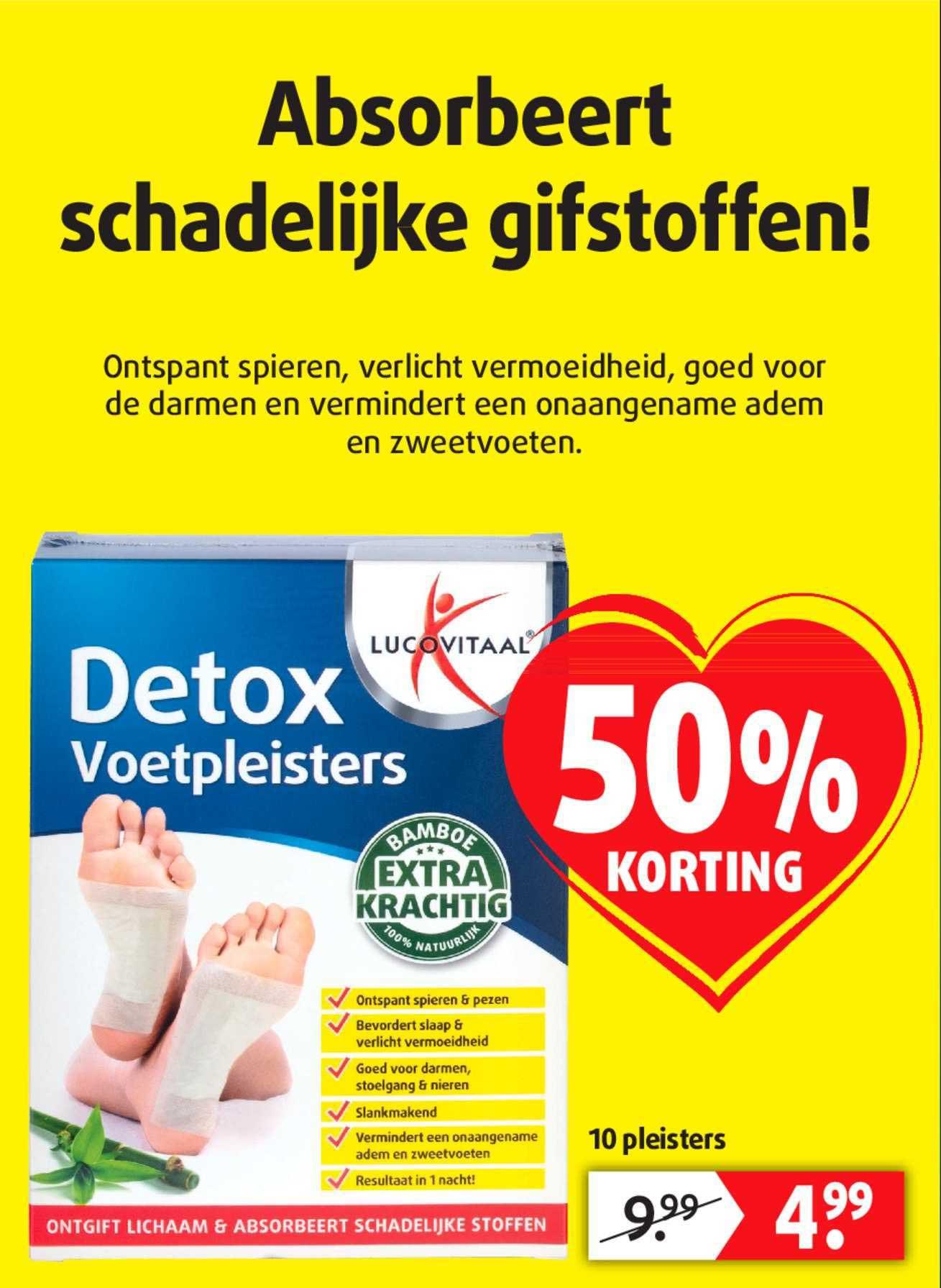 Lucovitaal Detox Voetpleisters 50% Korting