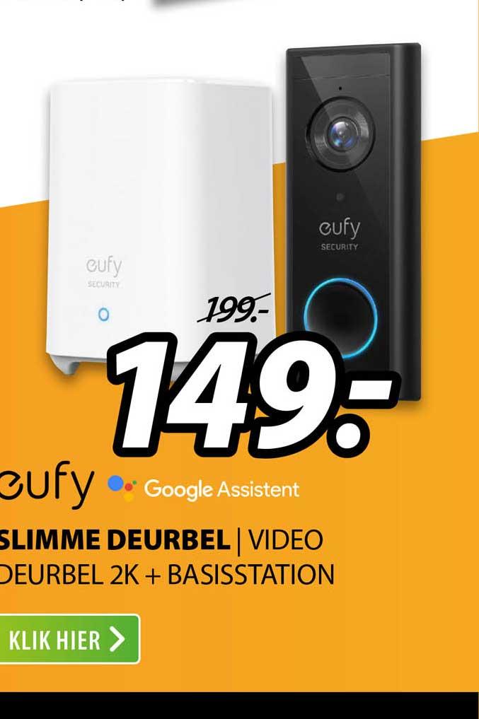 Expert Eufy Slimme Deurbel | Video Deurbel 2K + Basisstation