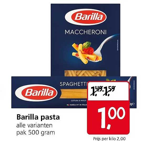 Jan Linders Barilla Pasta