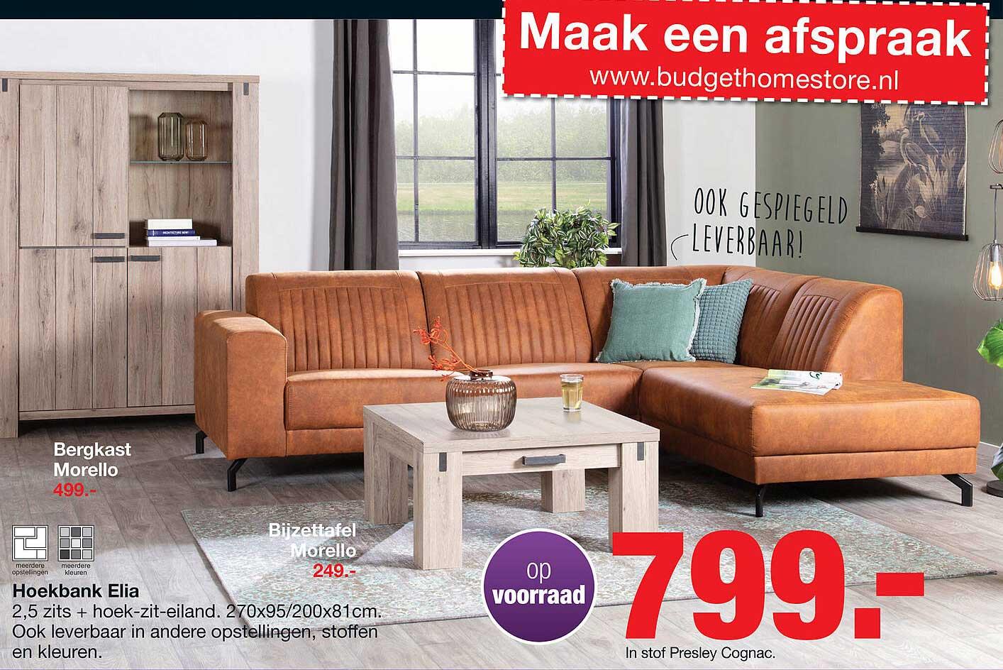 Budget Home Store Bergkast Morello, Bijzettafel Morello Of Hoekbank Elia