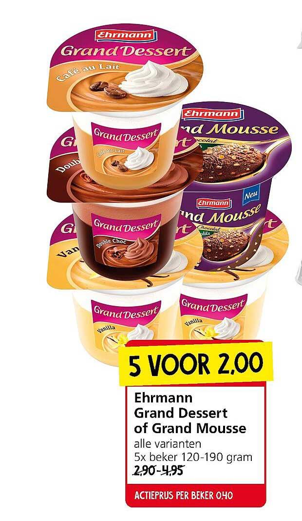 Jan Linders Ehrmann Grand Dessert Of Grand Mousse