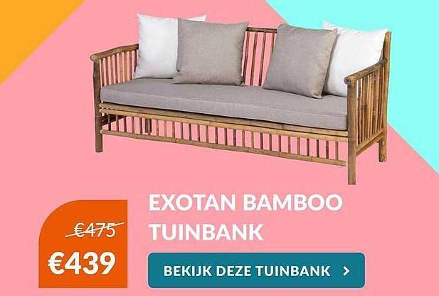 Van Der Garde Tuinmeubelen Exotan Bamboo Tuinbank