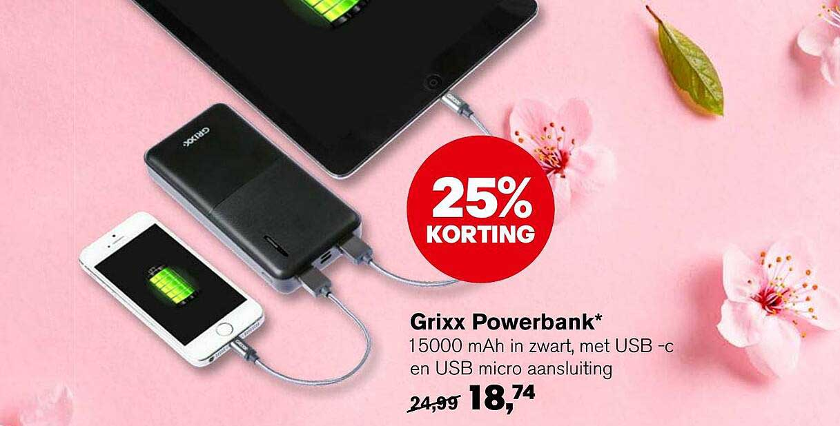 AKO Grixx Powerbank 25% Korting
