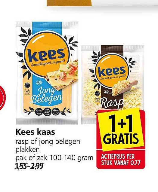 Jan Linders Kees Kaas Rasp Of Jong Belegen Plakken 1+1 Gratis