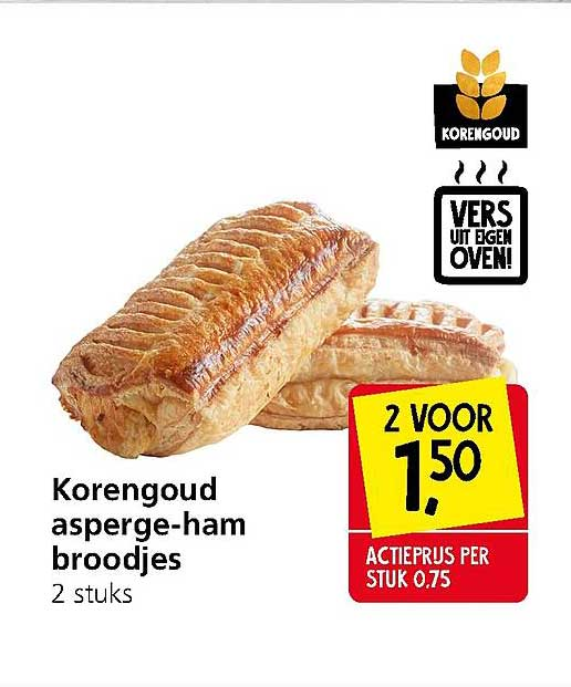 Jan Linders Korengoud Asperge-Ham Broodjes