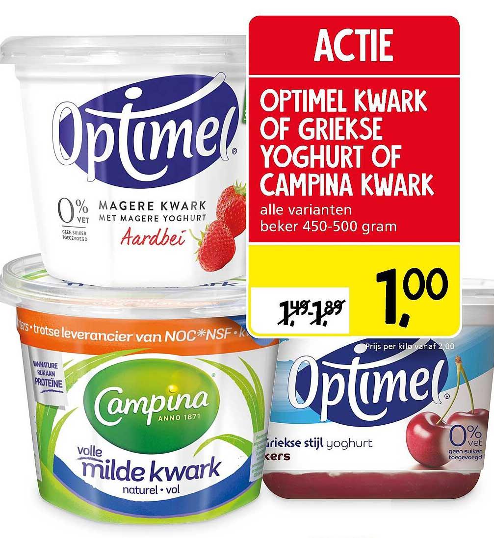 Jan Linders Optimel Kwark Of Griekse Yoghurt Of Campina Kwark