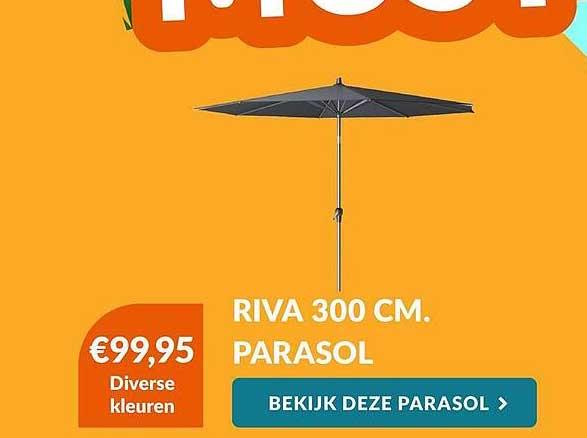 Van Der Garde Tuinmeubelen Riva 300 Cm Parasol