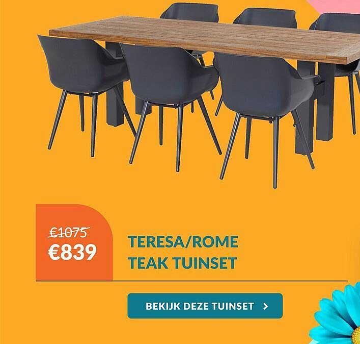 Van Der Garde Tuinmeubelen Teresa-Rome Teak Tuinset