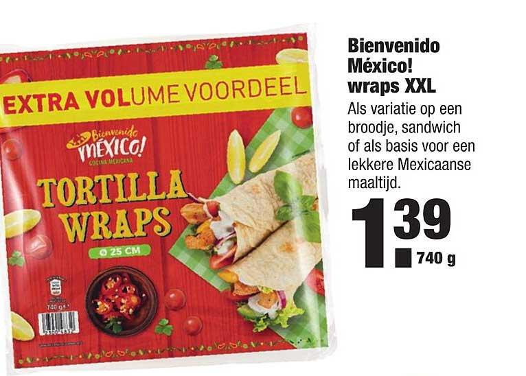 ALDI Bienvenido México! Wraps XXL