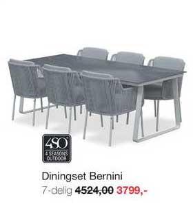 Boer Staphorst Diningset Bernini