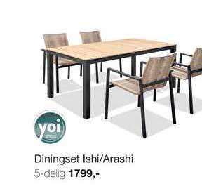 Boer Staphorst Diningset Ishi-Arashi