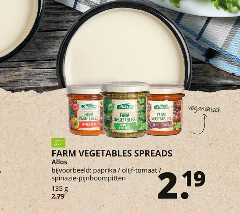 Natuurwinkel Farm Vegetables Spreads Allos