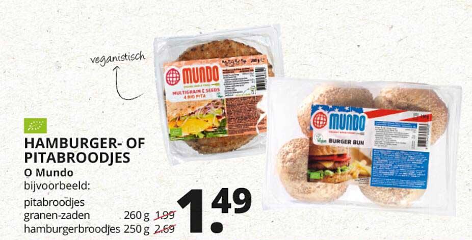 Natuurwinkel Hamburger- Of Pitabroodjes O Mundo