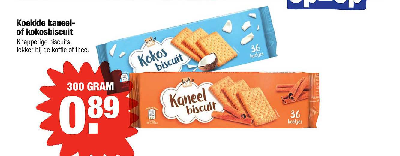 ALDI Koekkie Kaneel- Of Kokosbiscuit
