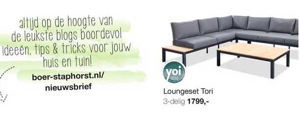 Boer Staphorst Loungeset Tori