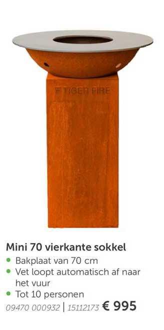 Aveve Mini 70 Vierkante Sokkel