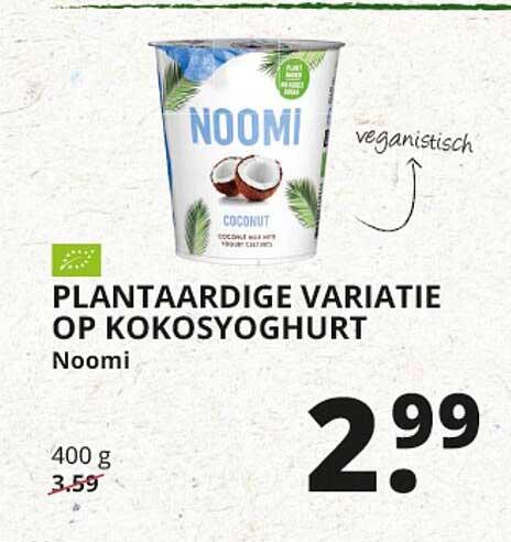 Natuurwinkel Plantaardige Variatie Op Kokosyoghurt Noomi