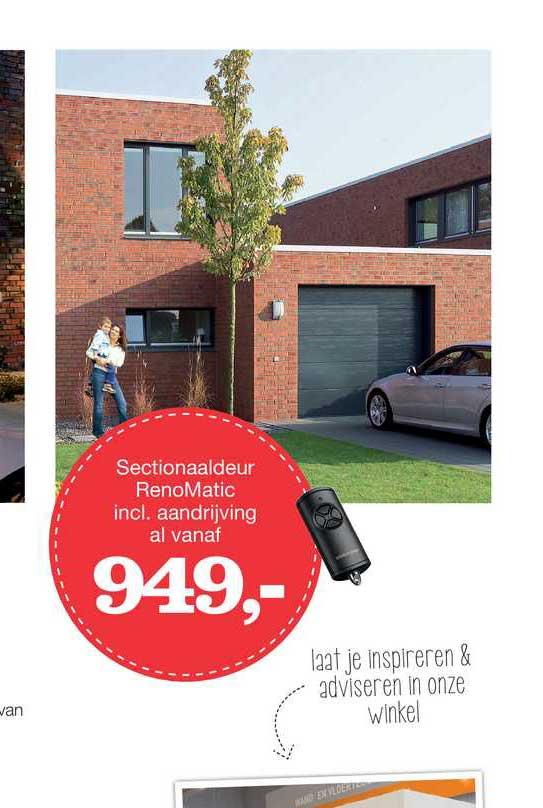 Boer Staphorst Sectionaaldeur RenoMatic