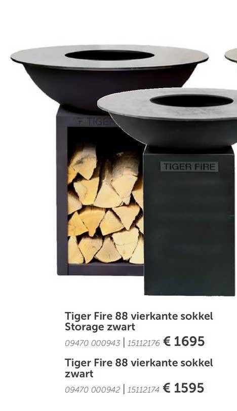Aveve Tiger Fire 88 Vierkante Sokkel Storage Zwart