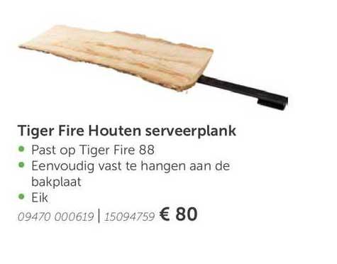 Aveve Tiger Fire Houten Serveerplank