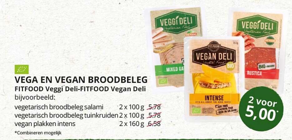 Natuurwinkel Vega En Vegan Broodbeleg Fitfood Veggi Deli-Fitfood Vegan Deli